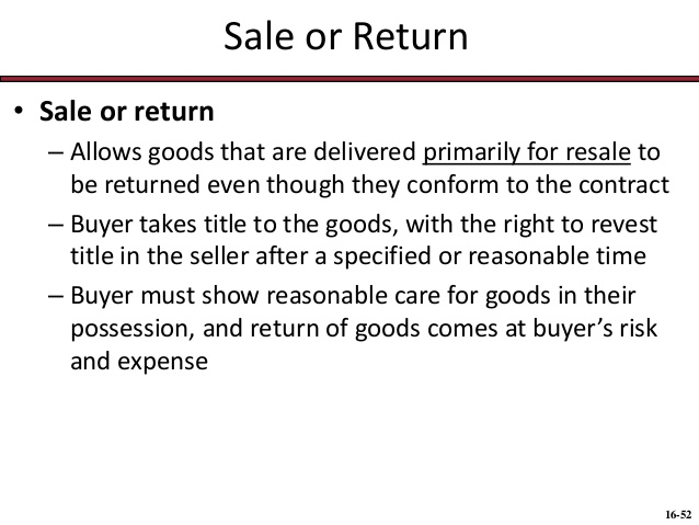 Sale or Return